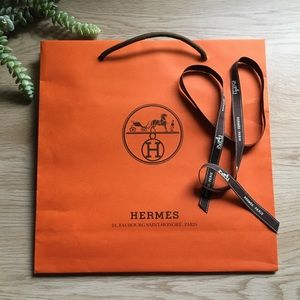 Hermès Gift Bag & Ribbon